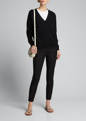 Brunello Cucinelli Stretch Cotton Skinny Ankle Pants