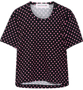 Comme des Garcons Polka-dot Cotton-jersey T-shirt - Black