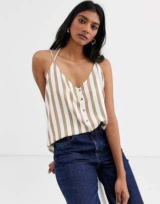 Only stripe cami top-Grey