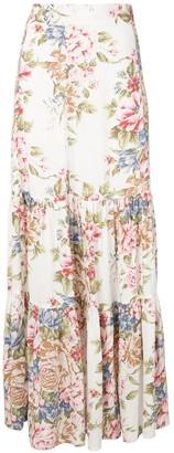 AUGUSTE Sadie floral print maxi skirt