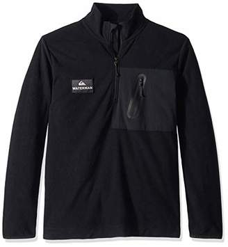 Quiksilver Waterman Men's Hidden View Half Neck Fleece Sweatshirt