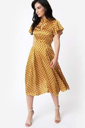 Unique Vintage Baltimore Polka-Dot Swing-Dress