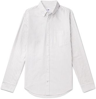 NN07 Levon Slim-Fit Button-Down Collar Striped Cotton Oxford Shirt