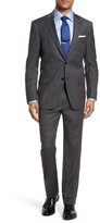 Hart Schaffner Marx Men's New York Classic Fit Stretch Plaid Wool Suit