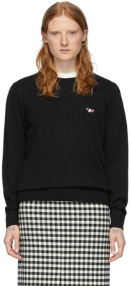 MAISON KITSUNÉ Black Tricolor Fox Sweater