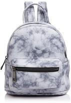 Street Level Marble Print Mini Backpack
