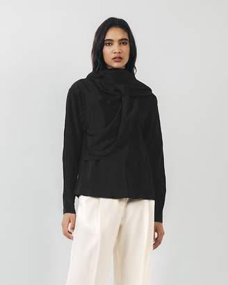 Shaina Mote Black Shawl Blouse