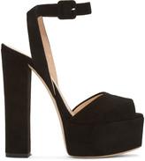 Giuseppe Zanotti Black Suede Lavinia Platform Sandals