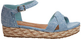 Toms Children's Harper Wedge Sandals, Chambray