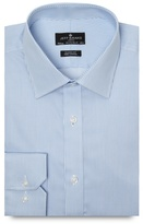 Jeff Banks Designer Light Blue Twill Striped Regular Fit Shirt