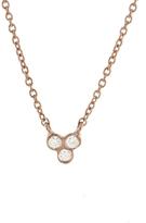 Yannis Sergakis Adornments Three Diamond Drop Necklace