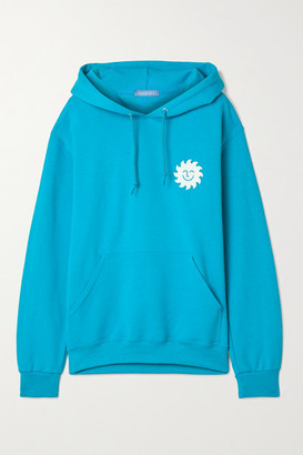 PARADISED Printed Cotton-blend Jersey Hoodie - Turquoise