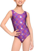 Danskin Purple Plaid Spiral Leotard - Girls