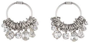 Dannijo Denman Crystal Hoop Earrings
