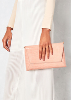 Missy Empire Bray Nude Leather Crocodile Print Clutch