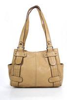 Tignanello Beige Leather Double Strap Tote Handbag