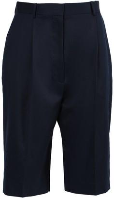 The Row Navy Marco Bermuda Shorts