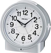 Seiko Bedside With Dial Light And Beep Alarm With Snooze Silver Tone Clock Qhe117slh