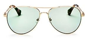 Sonix Women's Lodi Mirrored Aviator Sunglasses, 62mm