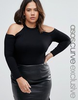 Asos Body With High Neck And Cold Shoulder