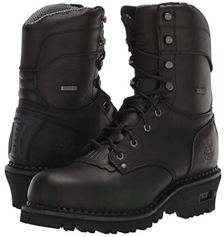 Georgia Boot AMP LT Logger Waterproof 9 Work Boot (Black) Men's Boots