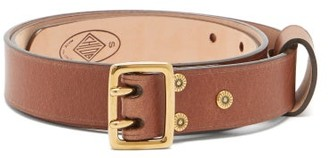 Chloé Franckie Double-prong Buckle Leather Belt - Brown