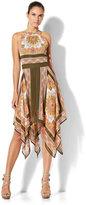 New York & Co. Scarf-Hem Halter Dress