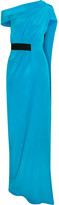 Roland Mouret Minton One-shoulder Silk Gown - Blue