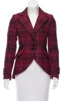 Smythe Leather-Trimmed Plaid Jacket