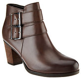 Clarks Artisan Leather Ankle Boots With Buckle - Palma Rena
