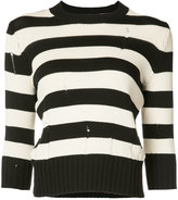 Veronica Beard striped jumper - women - Cotton/Nylon - L