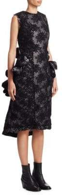 Comme des Garcons Padded Floral Lace Dress