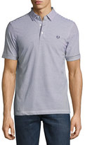Fred Perry Fine-Stripe Jersey Polo Shirt, Blue