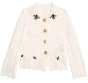 Dolce & Gabbana Embellished Corded Lace Jacket