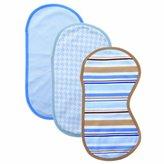 "Hudson Baby Baby Boys' ""Blue Patterns"" 6-Piece Burp Cloth & Bib Gift Set"