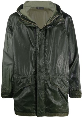 Mr & Mrs Italy Textured Style Contrast Panel Raincoat
