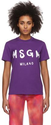 MSGM Purple Artist Logo T-Shirt