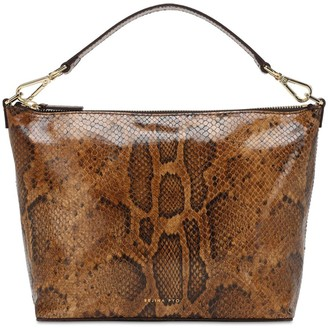REJINA PYO Alma Snake Print Leather Top Handle Bag