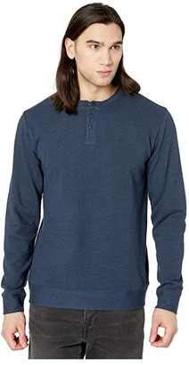 RVCA Compressor Long Sleeve Crew (Demin Heather) Men's Clothing