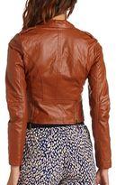 Charlotte Russe Braided Epaulet Motorcycle Jacket