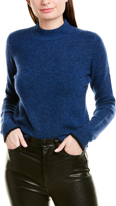Vince Contrast Tip Wool & Alpaca-Blend Sweater