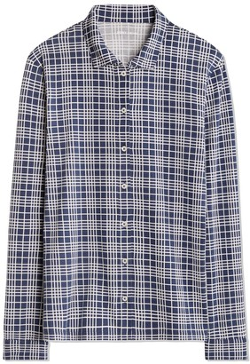 Tory Burch PRINTED MERCERIZED COTTON LONG-SLEEVE SHIRT