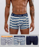 Jack & Jones Trunks 3 Pack With Stripe