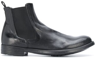 Officine Creative Round Toe Ankle Boots