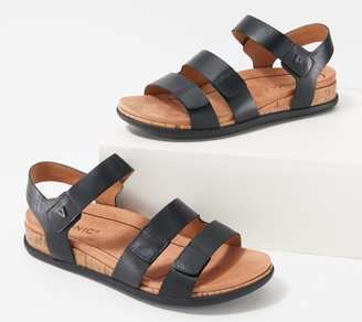 Vionic Leather Adjustable Straps Sandal - Colleen