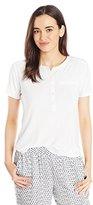 NYDJ Women's Short Sleeve Knit Henley Tee