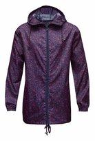 Fashion Box Womens Printed Rain Mac Lightweight Kagool Festival Raincoat
