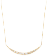 Mizuki 14K Yellow Gold & 0.46 Total Ct. Diamond Crescent Icicle Necklace