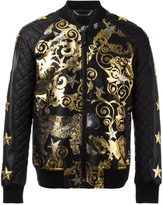 Philipp Plein Feel Gold bomber jacket - men - Cotton/Acrylic/Nylon/Spandex/Elastane - L