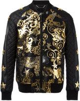 Philipp Plein Feel Gold bomber jacket - men - Cotton/Acrylic/Nylon/Spandex/Elastane - M